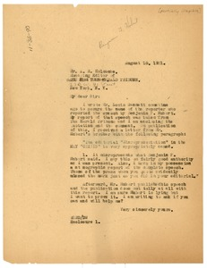 Thumbnail of Letter from W. E. B. Du Bois to A. R. Holcombe