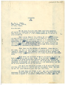 Thumbnail of Letter from Henry W. Thomas to L. A. Nixon