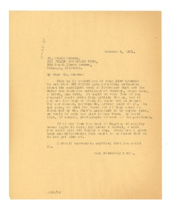 Thumbnail of Letter from W. E. B. Du Bois to Edwin R. Embree