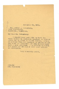 Thumbnail of Letter from W. E. B. Du Bois to Arthur Schomburg