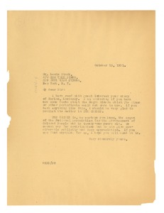 Thumbnail of Letter from W. E. B. Du Bois to the New York Times