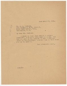 Thumbnail of Letter from W. E. B. Du Bois to C. G. Woodson