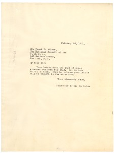 Thumbnail of Letter from Daisy Wilson to Frank T. Wilson
