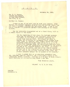 Thumbnail of Letter from W. E. B. Du Bois to W. C. Heaton