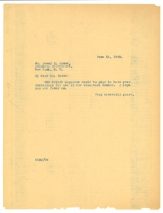 Thumbnail of Letter from W. E. B. Du Bois to Dewey R. Jones