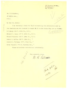 Thumbnail of Letter from Mrs. B. R. Latimer to W. E. B. Du Bois