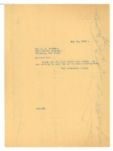 Thumbnail of Letter from W. E. B. Du Bois to Mrs. B. R. Latimer