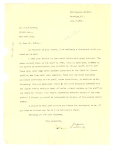 Thumbnail of Letter from Catherine Latimer to W. E. B. Du Bois
