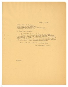 Thumbnail of Letter from W. E. B. Du Bois to Massachusetts Institute of Technology
