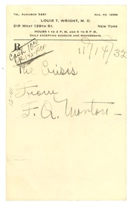 Thumbnail of Letter from F. Q. Morton to Crisis