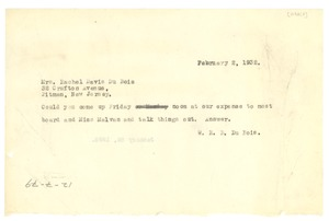 Thumbnail of Telegram from W. E. B. Du Bois to N.A.A.C.P.