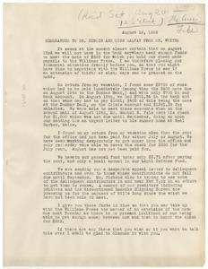 Thumbnail of Memorandum from N.A.A.C.P. to W. E. B. Du Bois and Irene Malvan