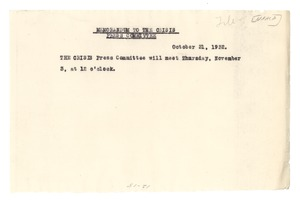 Thumbnail of Memorandum from W. E. B. Du Bois to Crisis Press Committee