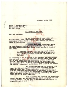 Thumbnail of Letter from Powers, Kaplan & Berger to Henry A. Uterhart