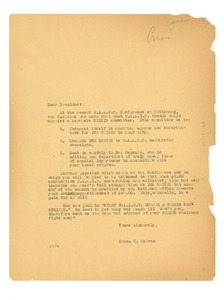 Thumbnail of Circular letter from Irene C. Malvan to N.A.A.C.P.
