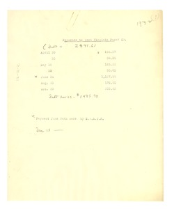 Thumbnail of Payments to West Virginia Paper Co.