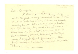 Thumbnail of Letter from W. E. B. Du Bois to George W. Crawford