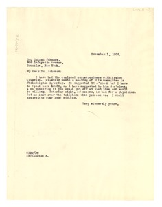 Thumbnail of Letter from W. E. B. Du Bois to Roland Johnson