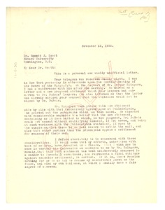 Thumbnail of Letter from George W. Crawford to Emmett Scott