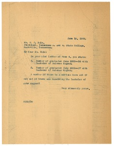 Thumbnail of Letter from W. E. B. Du Bois to W. J. Hale