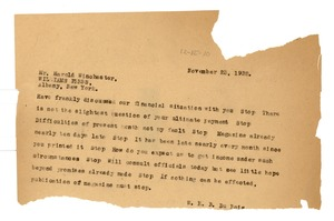 Thumbnail of Letter from W. E. B. Du Bois to the Williams Press