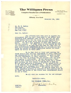 Thumbnail of Letter from The Williams Press to W. E. B. Du Bois