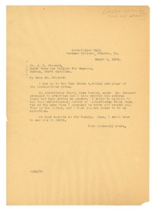 Thumbnail of Letter from W. E. B. Du Bois to J. E. Shepard