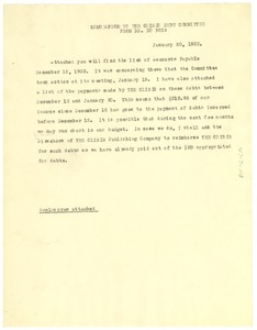 Thumbnail of Memorandum from W. E. B. Du Bois to unidentified correspondent