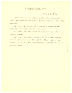 Thumbnail of Memorandum from W. E. B. Du Bois to Ruth E. Porter