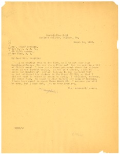 Thumbnail of Letter from W. E. B. Du Bois to Daisy Lampkin