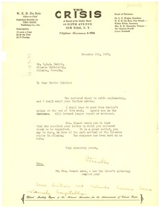Thumbnail of Letter from George Streator to W. E. B. Du Bois