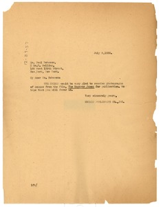 Thumbnail of Letter from Lulu Burton to Paul Robeson