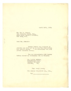 Thumbnail of Letter from the Crisis to Williams Press