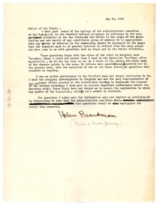 Thumbnail of Letter from Helen Boardman to the Crisis