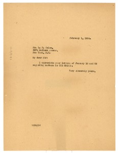 Thumbnail of Letter from W. E. B. Du Bois to L. F. Coles