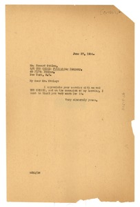 Thumbnail of Letter from W. E. B. Du Bois to Howard Ottley