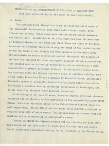 Thumbnail of Memorandum on the contributions of the Negro to American life