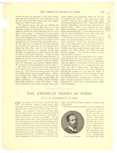 Thumbnail of The  American Negro at Paris