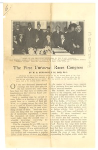 Thumbnail of The  first Universal Races Congress
