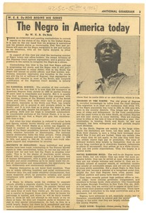 Thumbnail of The  Negro in America today