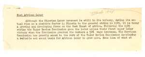 Thumbnail of West Africa notes