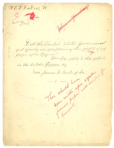Thumbnail of Did the United States government act wisely in conferring the right of suffrage             upon Negroes being a reply to the article in the October Forum by Sen. James B. Eustis of             Louisiana