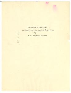 Thumbnail of Title page of Playthings of the Night