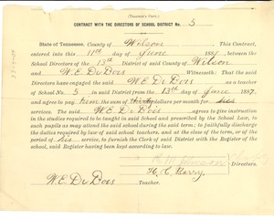Thumbnail of W. E. B. Du Bois State of Tennessee teaching certificate