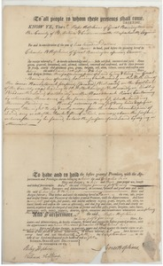 Thumbnail of Deed transfer from Moses Hopkins to Charles W. Hopkins