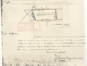 Thumbnail of Transfer of land to Doctor James Du Bois