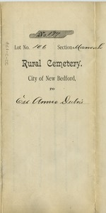 Thumbnail of Cemetery certificate of Annie Dubois