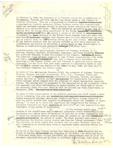 Thumbnail of Letter from Hugh H. Smythe to the editor of the New York Times