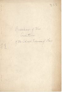 Thumbnail of Proceedings of the convention of the Colored Freedmen of Ohio