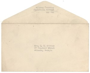 Thumbnail of Memorandum from W. E. B. Du Bois to Louie Shivery